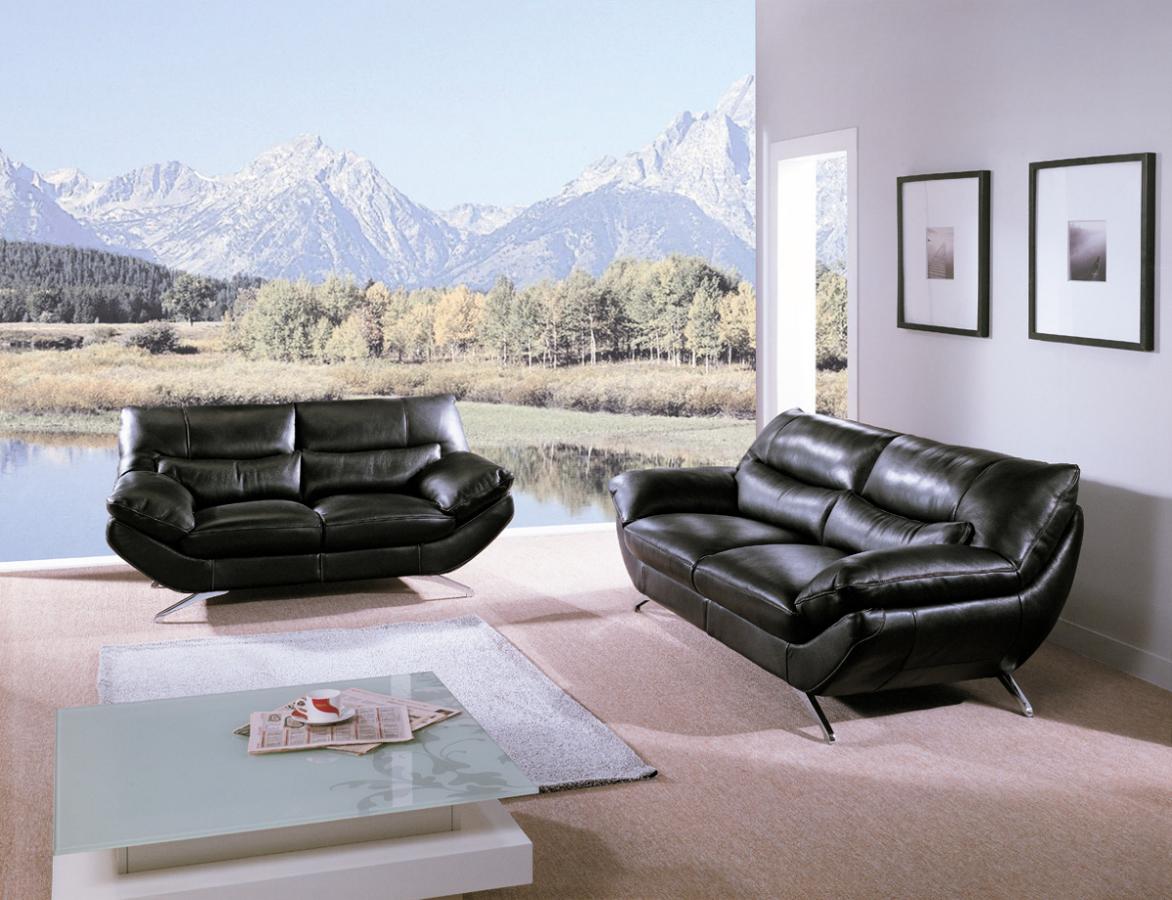 Foto sofas piel negra de mimo 140247 habitissimo - Sofas de diseno en piel ...