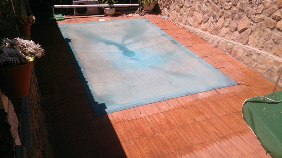 Foto solado palma piscina y bordillo de javier g mez for Bordillo piscina