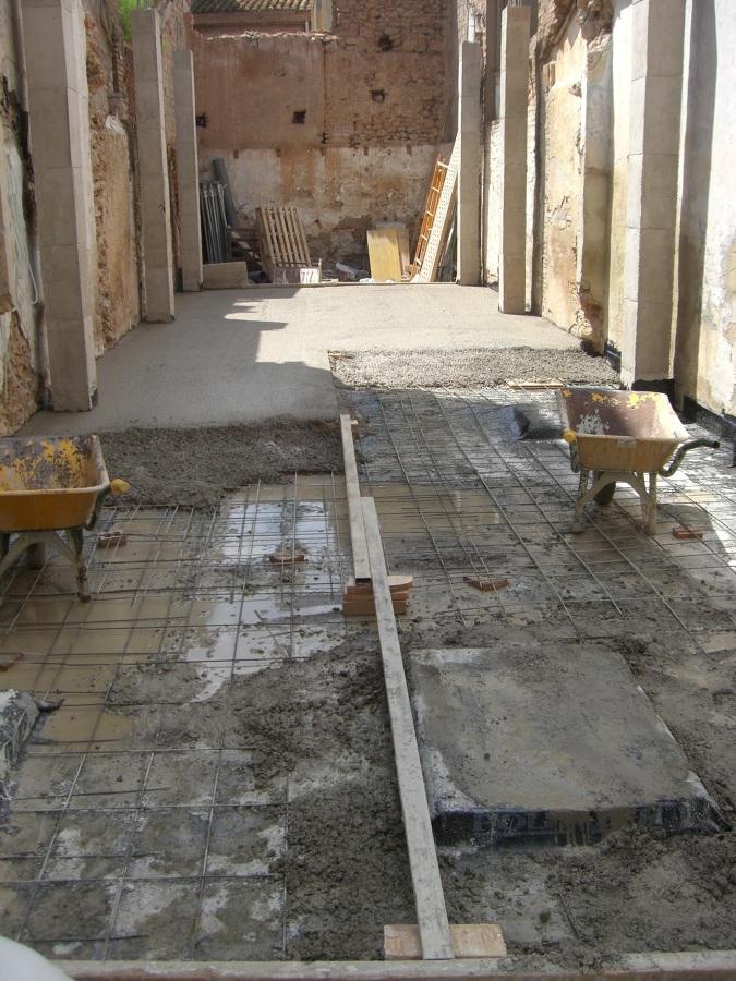 Foto soleras de hormig n armado de mg2 construcciones y for Solera de hormigon precio