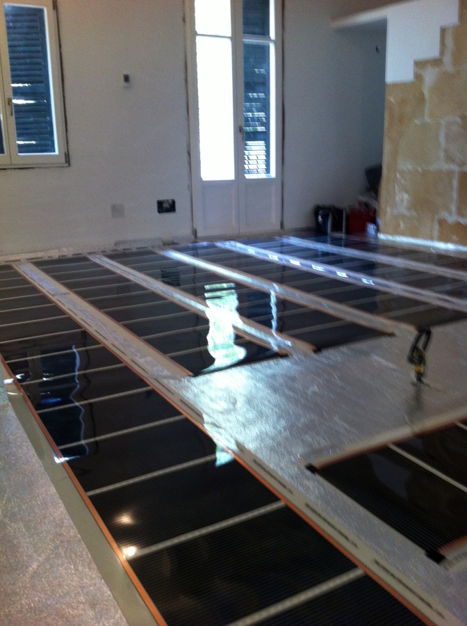 Foto suelo radiante electrico de tecno electrica balear - Suelo radiante aerotermia opiniones ...