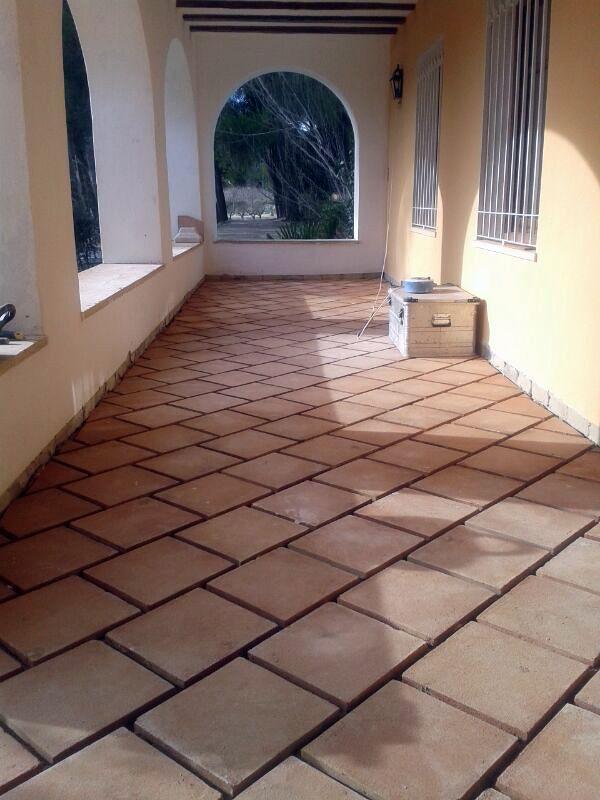 Foto suelo r stico a cartab n de ayra aislamientos y for Suelos de ceramica rusticos