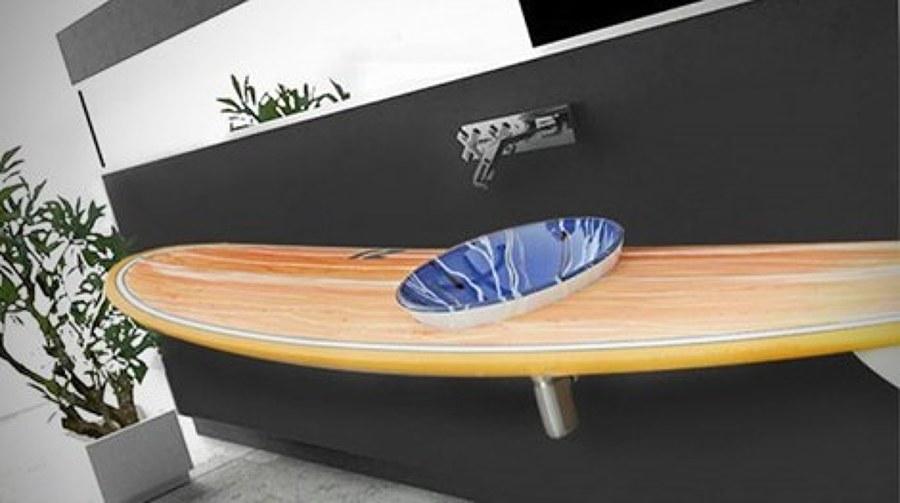 Tabla de surf lavamanos