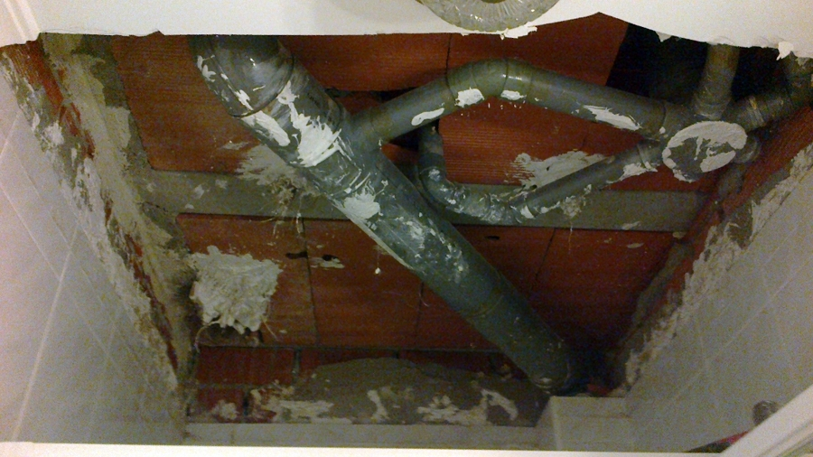 Tapado de techo por fuga