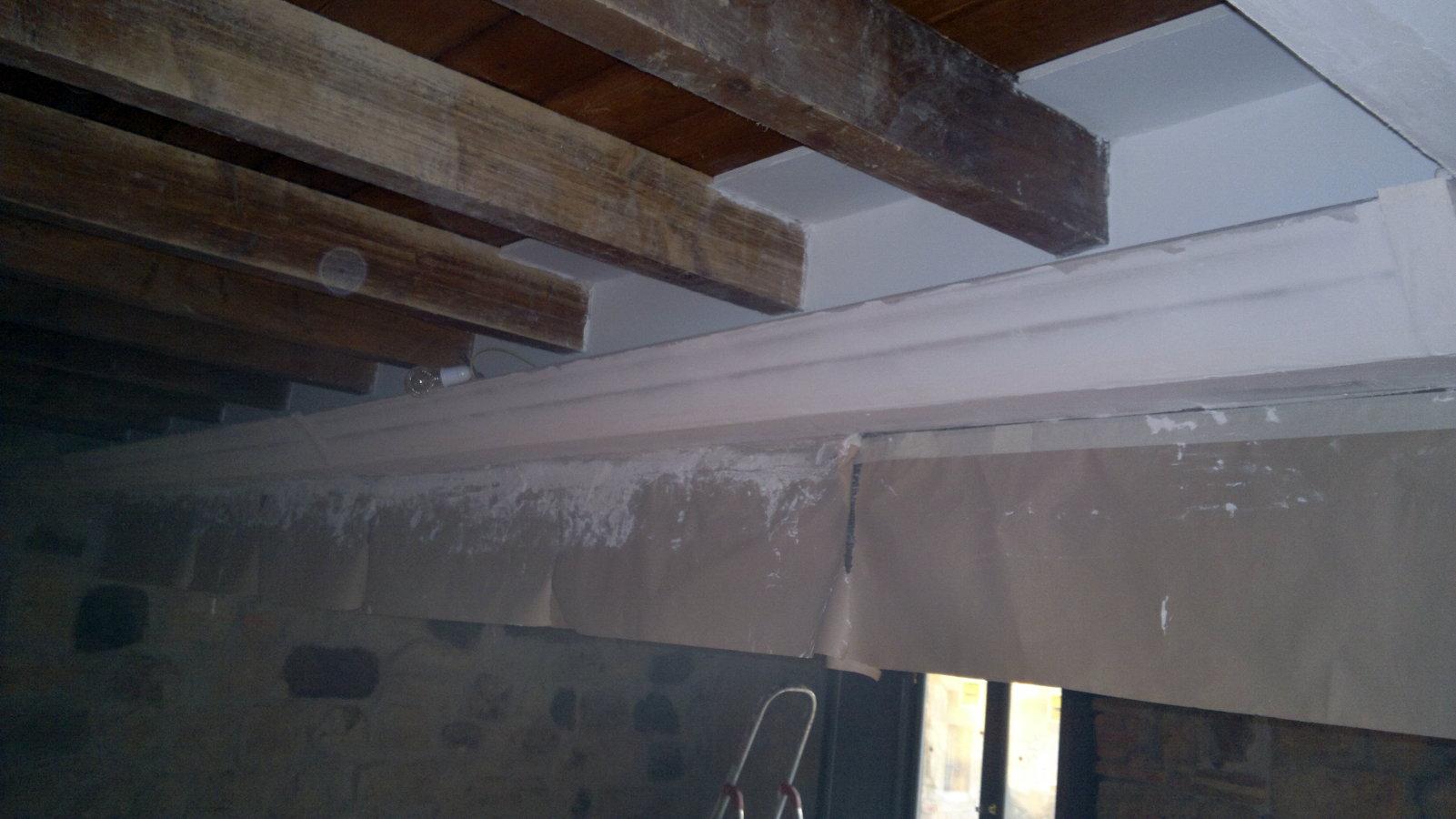 Foto tapar vigas de madera con pladur de busti valper - Fotos de techos de pladur ...