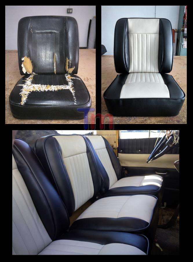 Restauración asientos Land Rover clasico