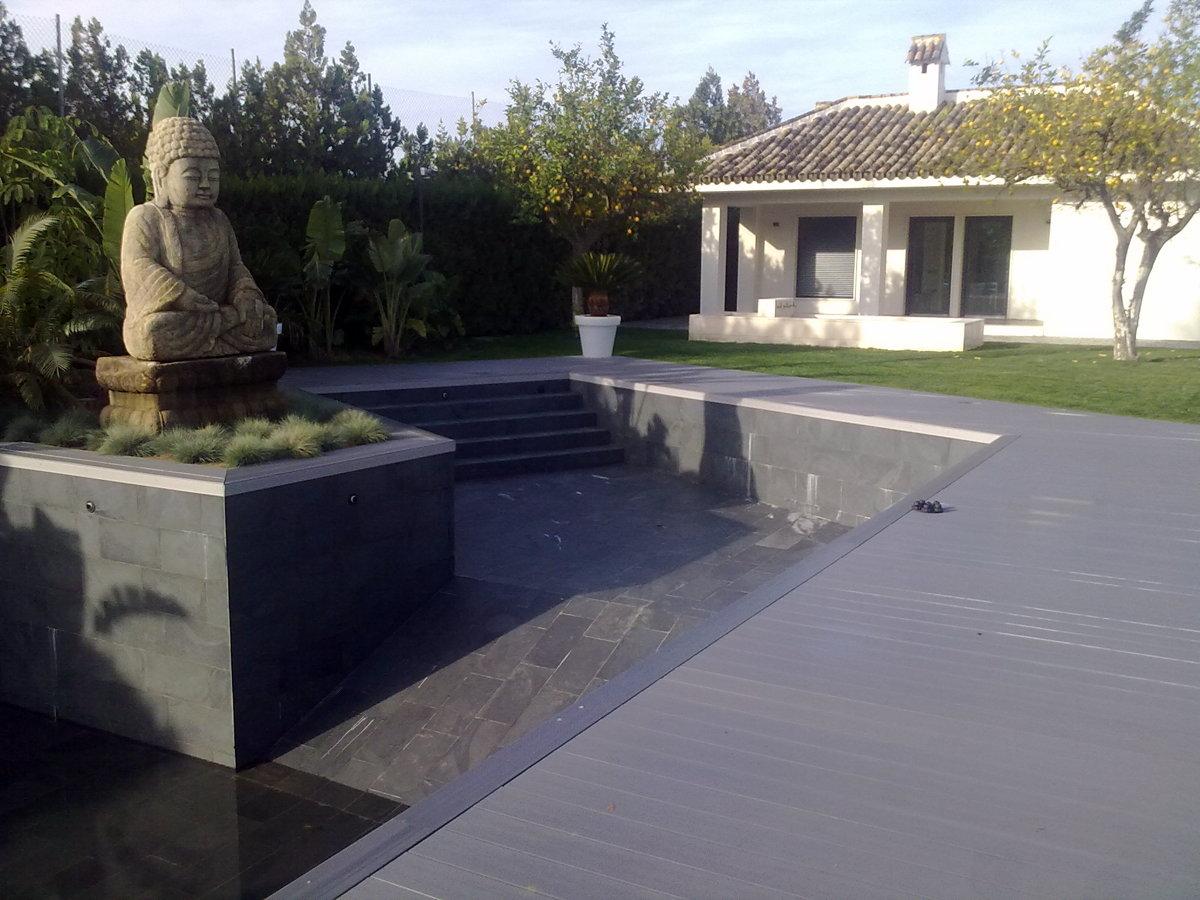Foto tarima de exterior sintetica de adg suelos de madera - Tarima de exterior ...