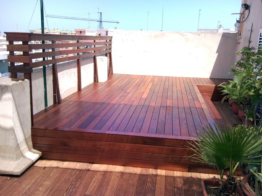 Foto tarima exterior ipe de steffen becker parquet 197139 habitissimo - Suelo terraza madera ...