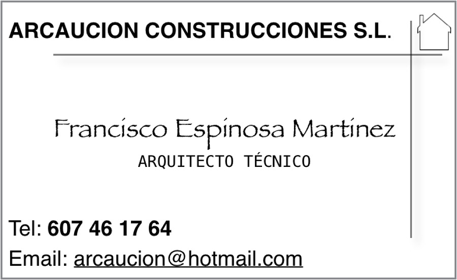 Tarjeta presentación Arquitecto Técnico