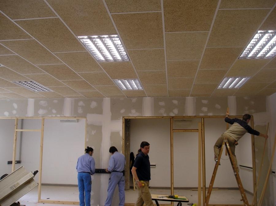 Foto techo ac stico de yesdecor 274365 habitissimo - Falso techo de madera ...