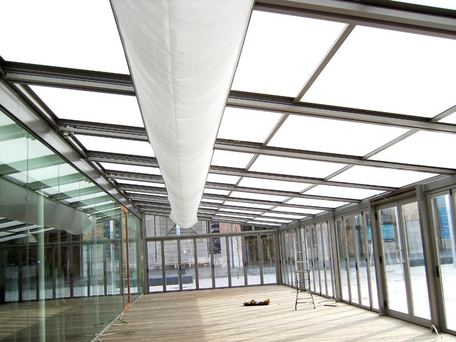 techo brisa motorizado,con puertas plegables