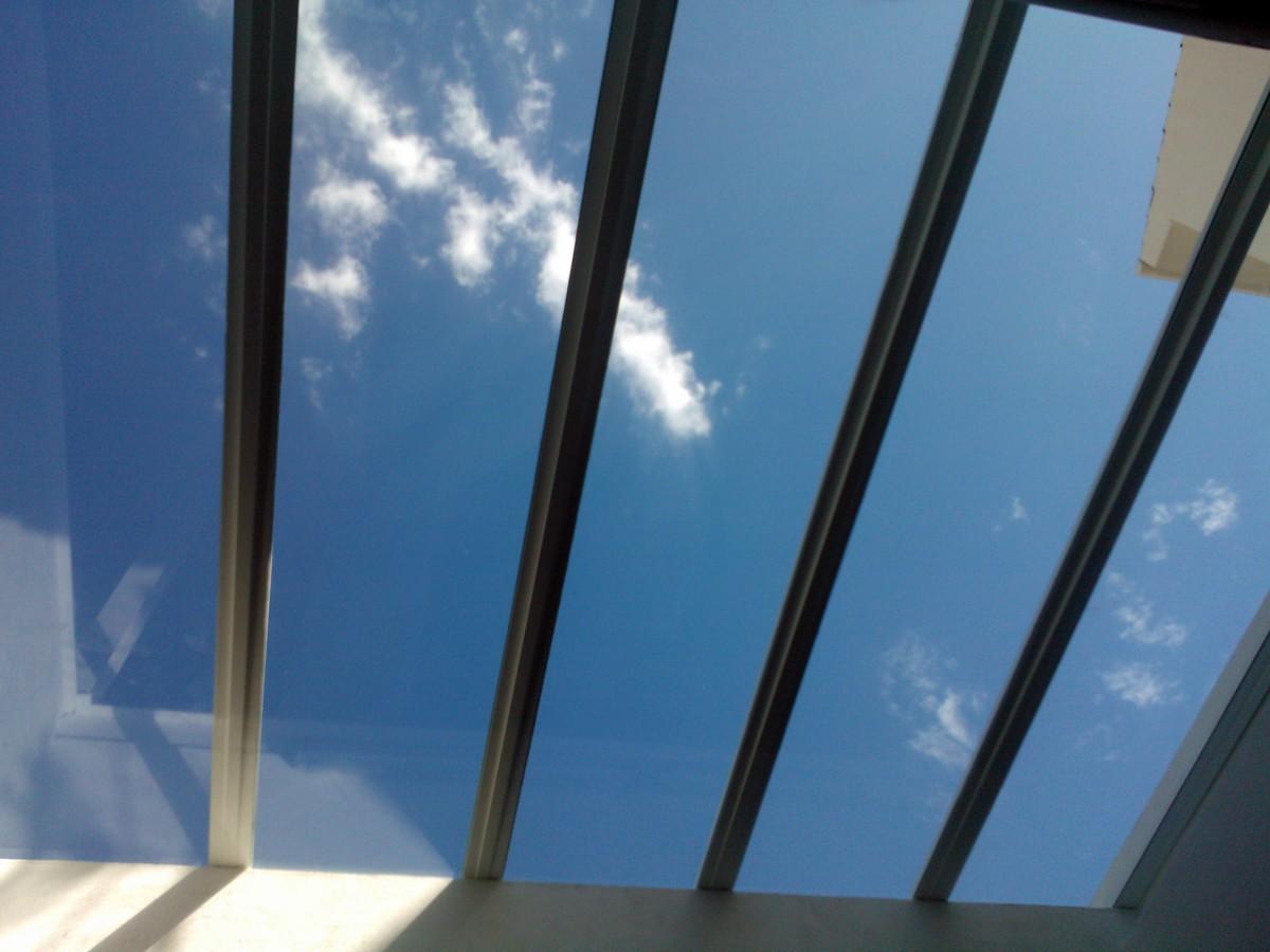 Foto techo de cristal vista interior2 de aluminios ropero - Techos de cristal para casas ...