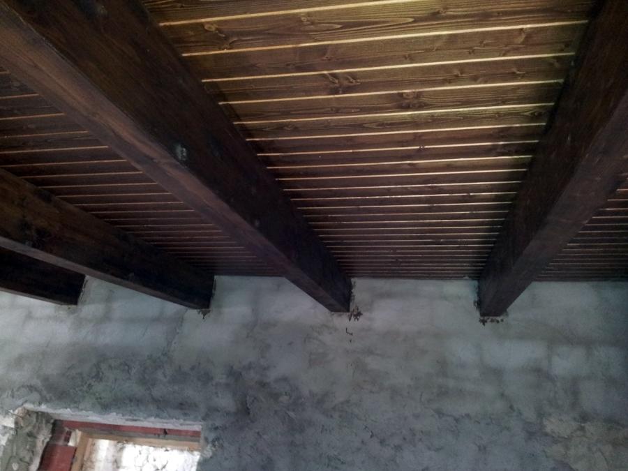 Foto techo de madera termochip de reformas manchuela - Techos rusticos de madera ...