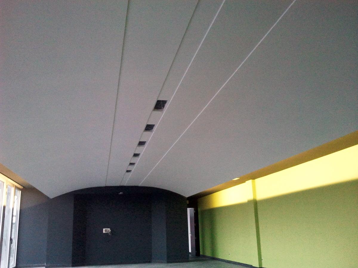 techo en bobeda terminado