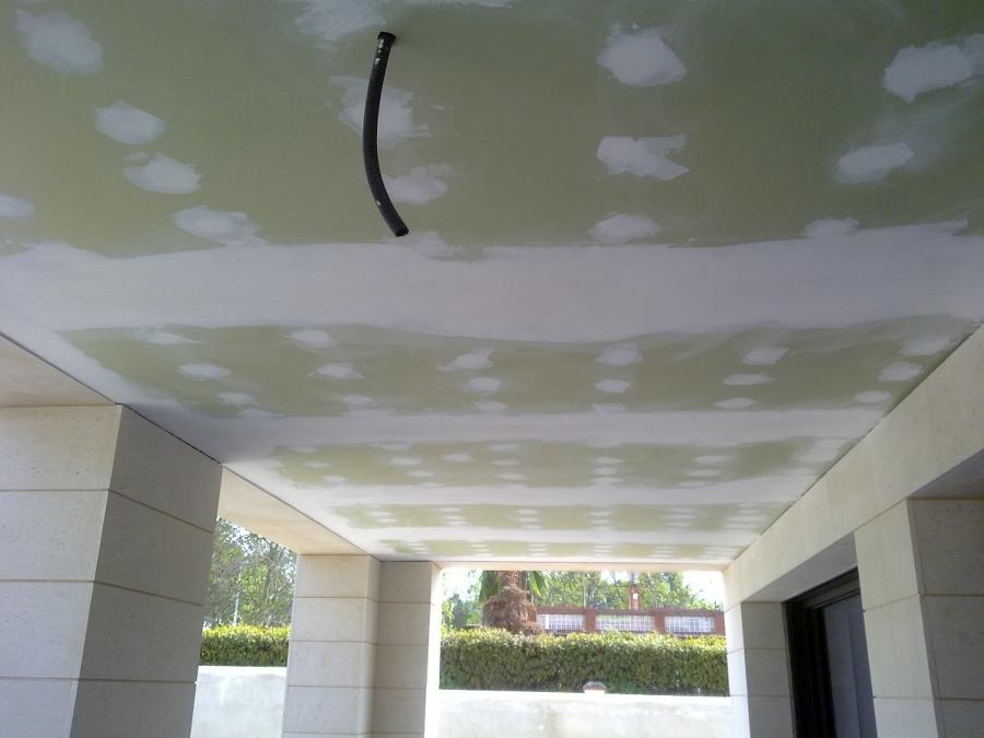 Foto techo pladur antihumedad terraza de escayolas y - Bajar techos con pladur ...