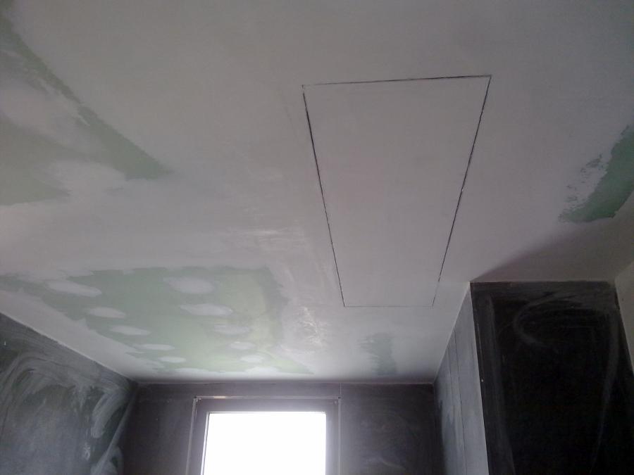 Foto techo pladur ba o con registro de acceso a a de - Bajar techos con pladur ...