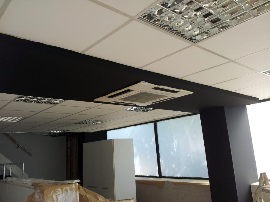 Techo pladur con encuentros de techos desmontables