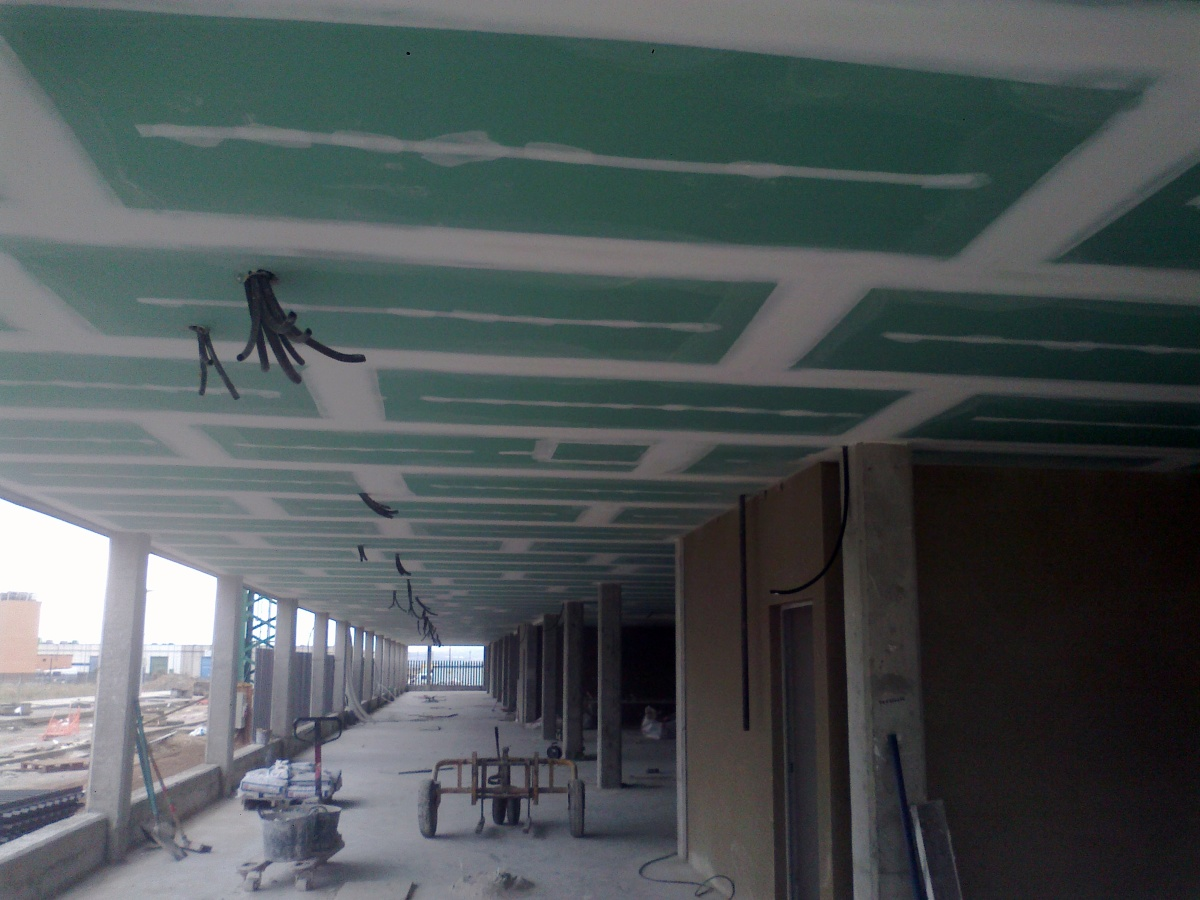 Foto techo pladur hidrofugo en garajes de home insulation - Fotos de techos de pladur ...