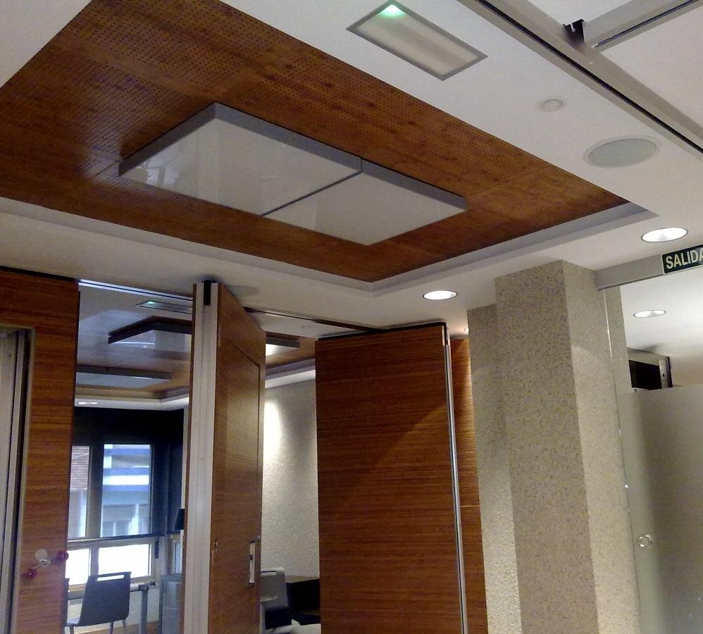 Foto division techo y tabique movil bambu de divisi n Falsos techos de madera