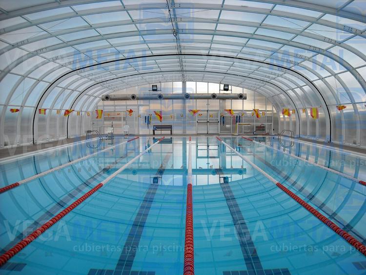 Foto techos de piscinas de vegametal cubiertas para for Techos para albercas