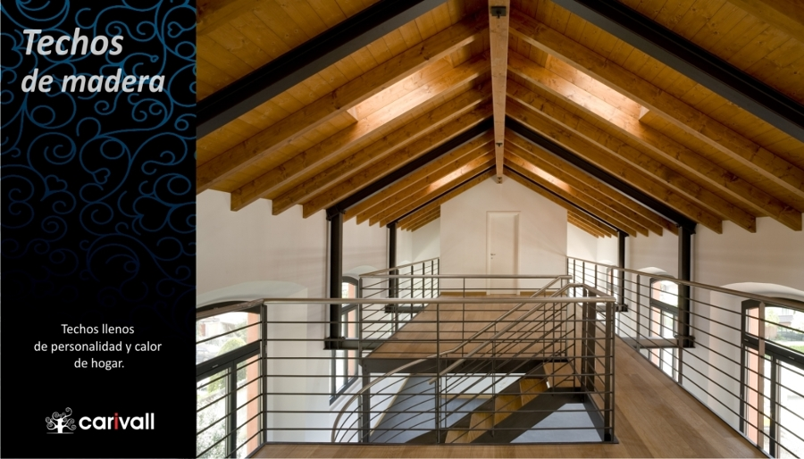 Foto techos y vigas de madera de carivall 195775 for Tejados de madera modernos