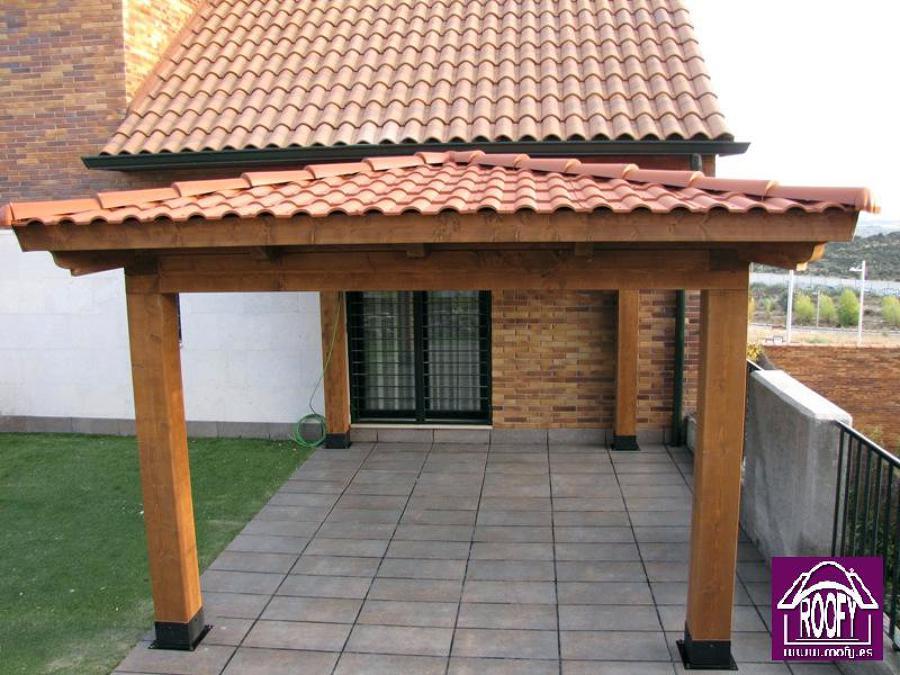 Foto teja pl stica terracota de tejas roofy 455391 - Tejados de pvc ...