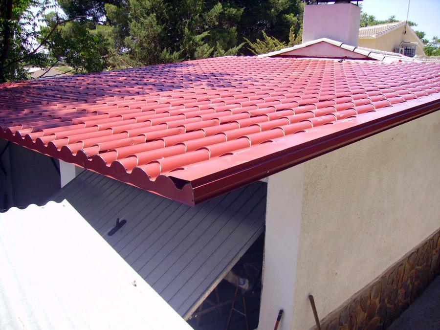 Foto tejado de cochera de construcciones molina yago - Planchas para tejados ...