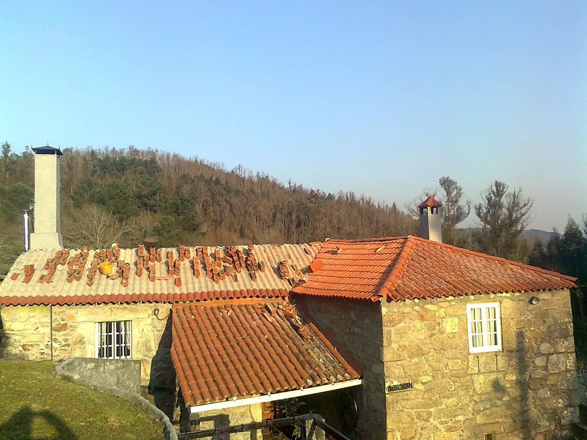tejado en irixoa