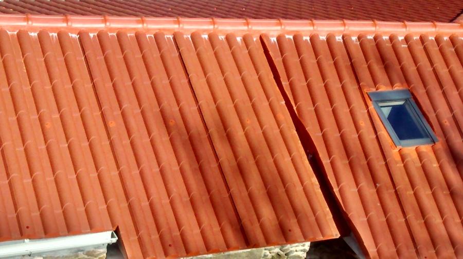 foto tejado imitaci n teja de ibernova obras y servicios