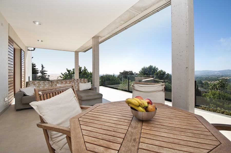 terraza chalet unifamiliar