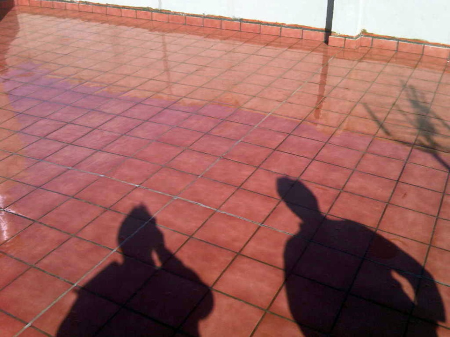 Terraza con membrana transparente