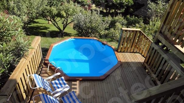 foto terraza de madera con piscina de protec 188666