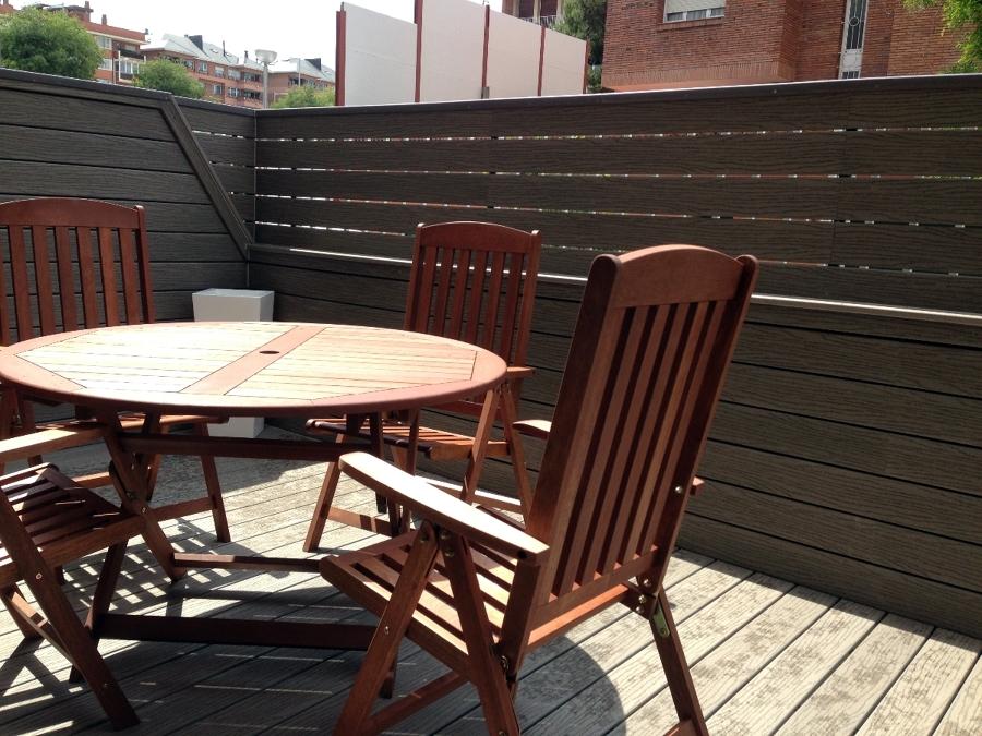 Foto terraza de tarima tarima de casa fiberon9 de - Tarima para terraza ...
