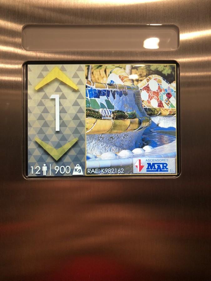 Display para botonera de cabina