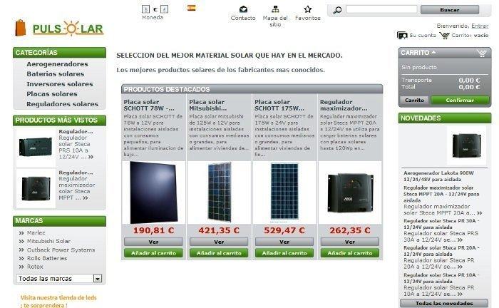 Foto tienda online de energia solar de pulsolar 130069 - Energia solar tenerife ...