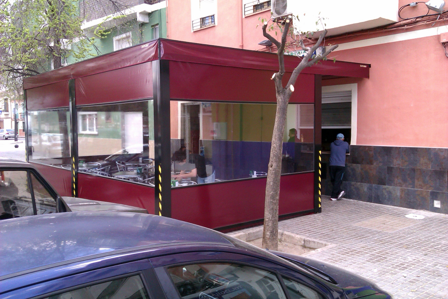 Foto toldo cafeteria de toldos yecla 322889 habitissimo - Toldos en pontevedra ...