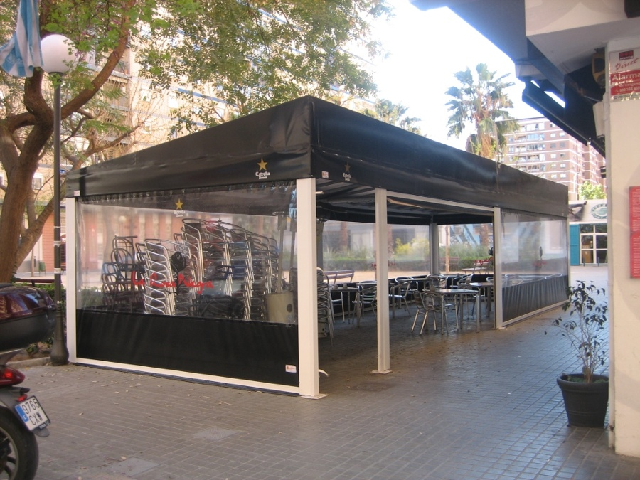 Foto toldo fijo para terraza de bar restaurante de jdg - Toldos terrazas bares ...