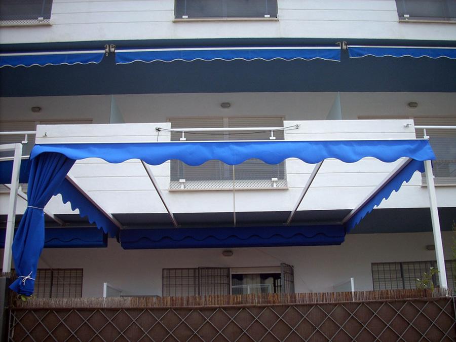 toldo plano con estructura de 50x50