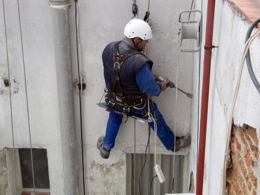 Trabajo vertical den patio de luces