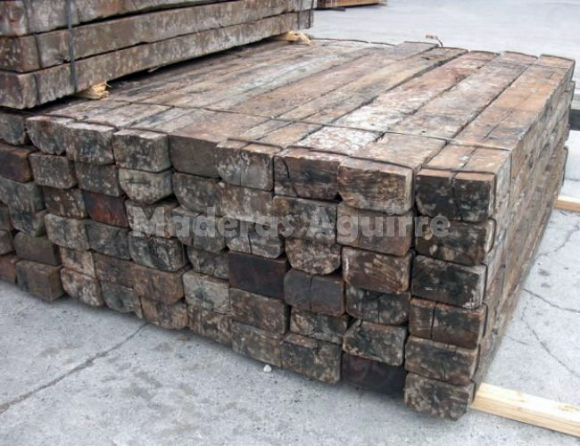 Foto traviesas de tren recuperadas roble de maderas - Traviesas de tren para jardin ...