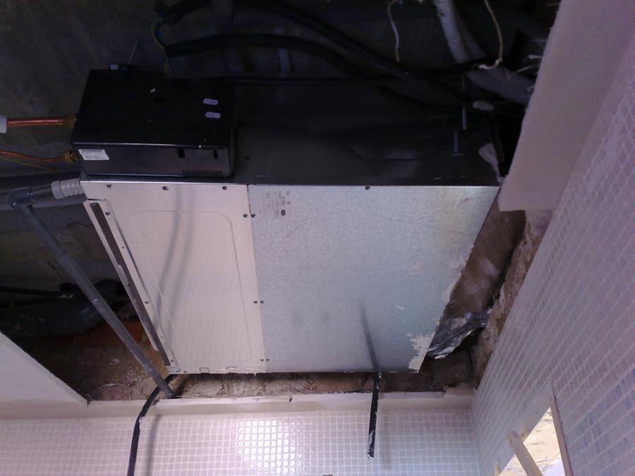 Unidad de techo conductos.