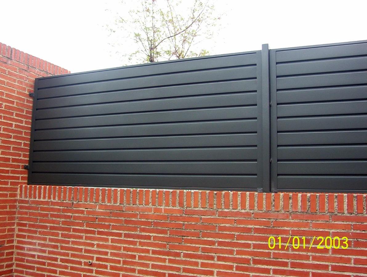 Foto valla de chapa de alvarado talleres metalicos s l - Vallas para parcelas ...