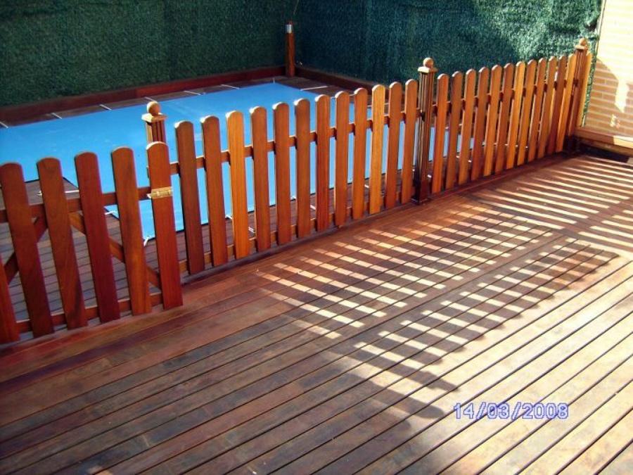 Foto valla de madera tropical de radu marin piscinas s l 467982 habitissimo - Vallas de madera para piscinas ...