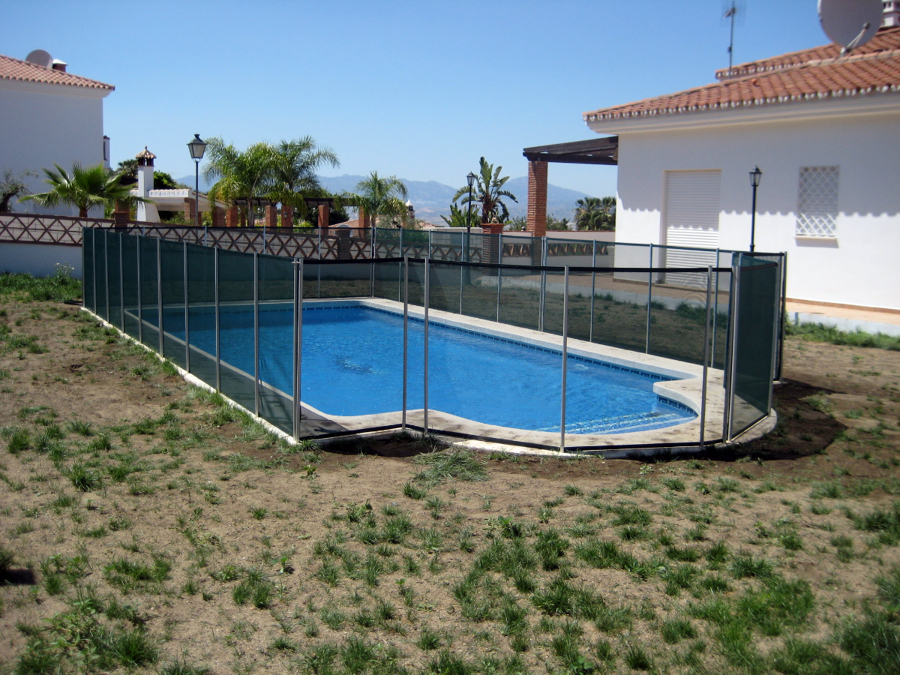 foto valla para piscina desmontable de