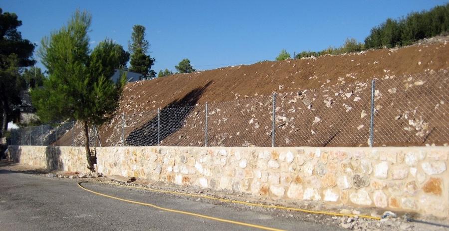 Foto vallado de parcela muro piedra y cerco de mosaic - Vallado de parcelas ...