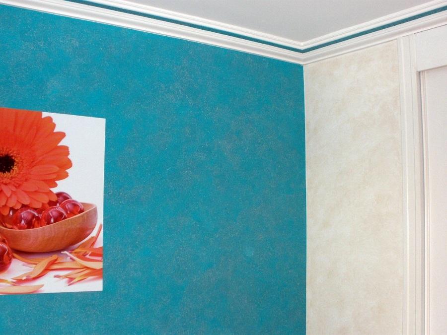 Veladura Agua Marina con cabecero pared en Patina Oxido