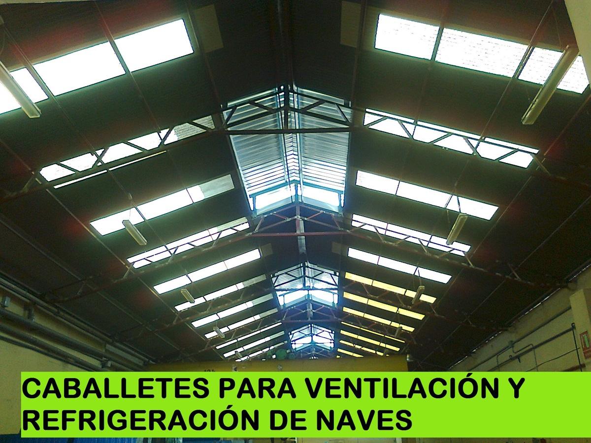 Foto ventilaci n estatica en naves de metalicas dm for Caballetes metalicos