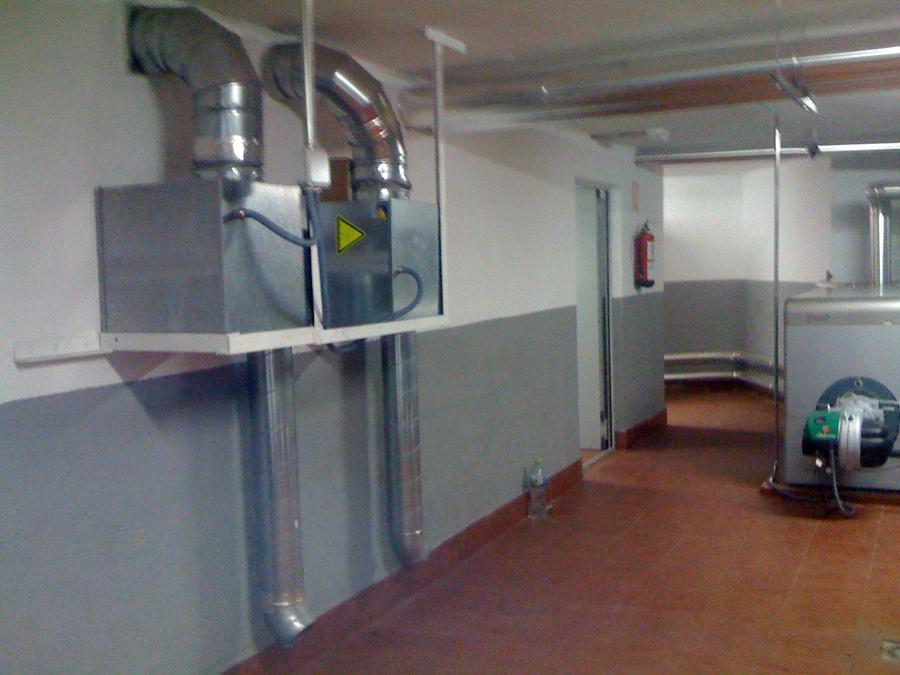 ventilaciones cruzadas salas de calderas