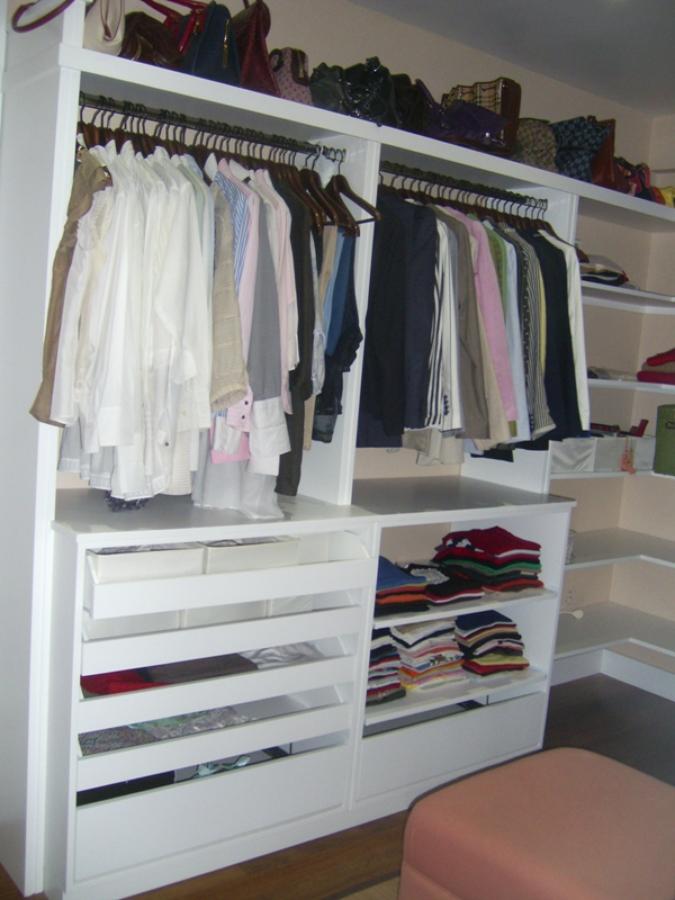 Vestidor lacado en blanco