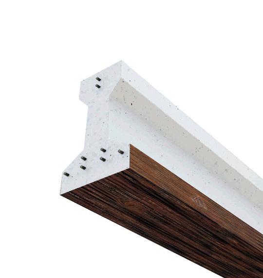 Foto viga hormig n acabado madera de materiales de - Vigas de madera para tejados ...