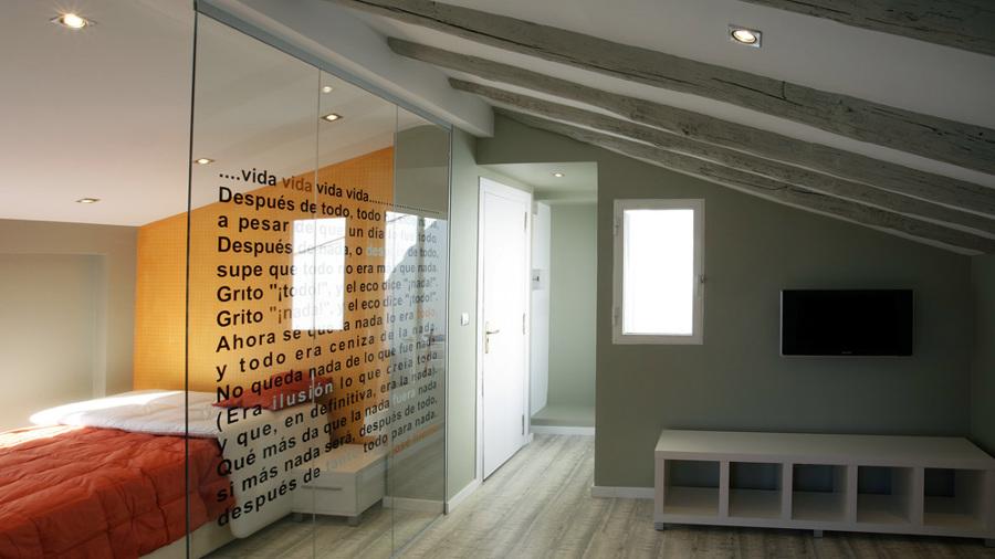 Foto vinilo decorativo cristal casa de seyal jagg s l u - Vinilo decorativo cristal ...